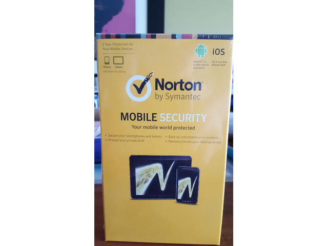 Sealed Norton mobile security by Symantec - 1/2