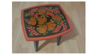 Khokhloma (hohloma) Stool for Child