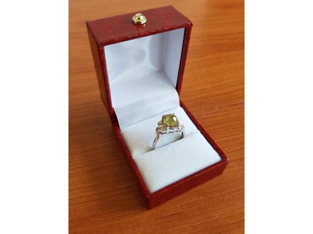 Ultra rare large natural fancy green diamond ring 2.77 carat - 3/11