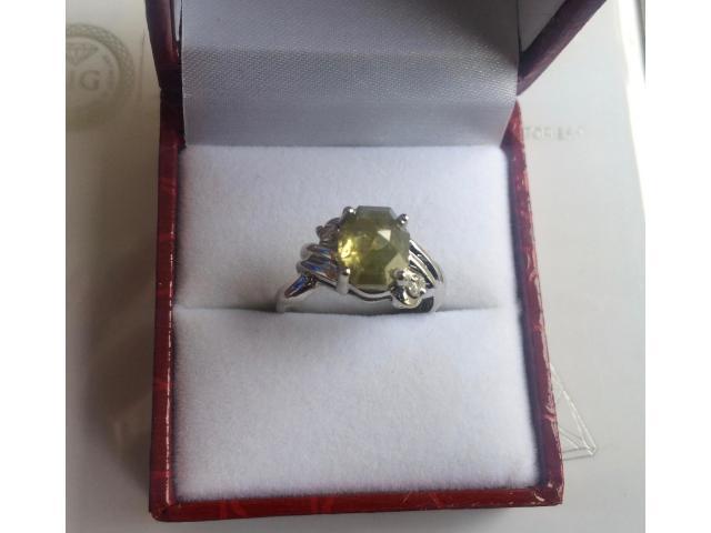 Ultra rare large natural fancy green diamond ring 2.77 carat - 7/11