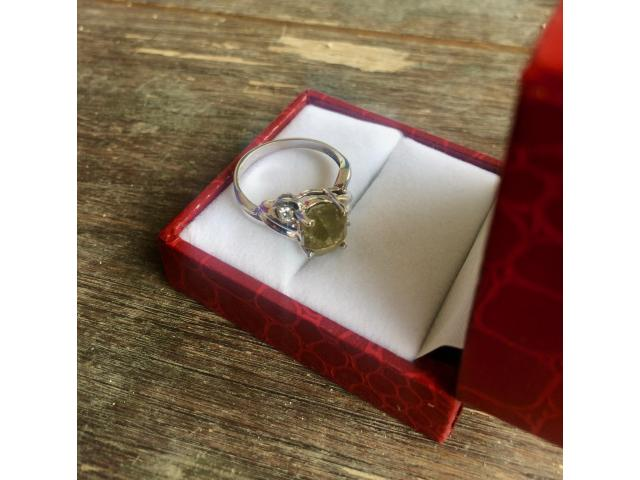 Ultra rare large natural fancy green diamond ring 2.77 carat - 11/11