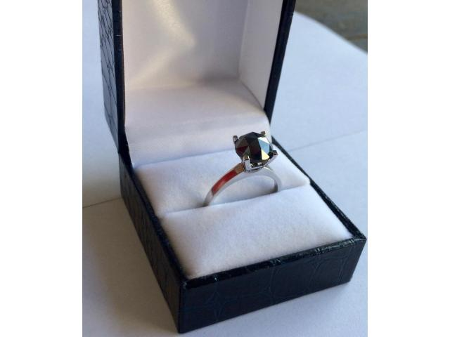 2.46 carat natural black diamond ring with full certificate - 3/10