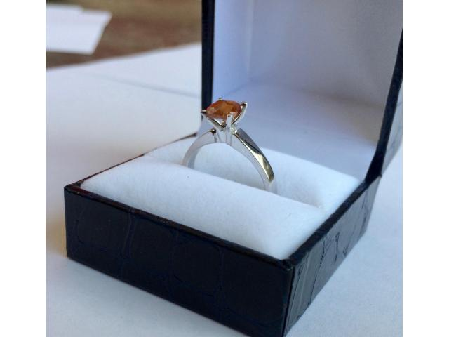 0.90 carat natural fancy deep orange diamond with full certificate - 5/9