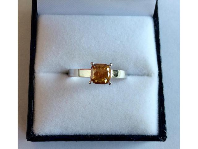 0.90 carat natural fancy deep orange diamond with full certificate - 6/9