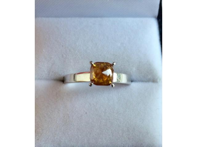 0.90 carat natural fancy deep orange diamond with full certificate - 8/9