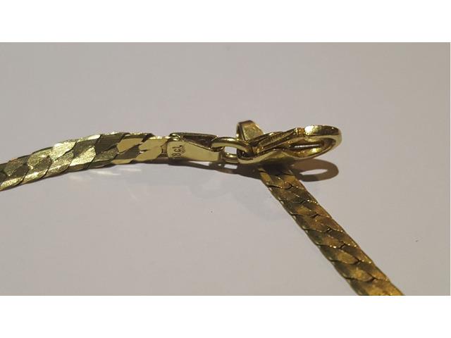 Beautiful Gold chain 18 karat - 1/4
