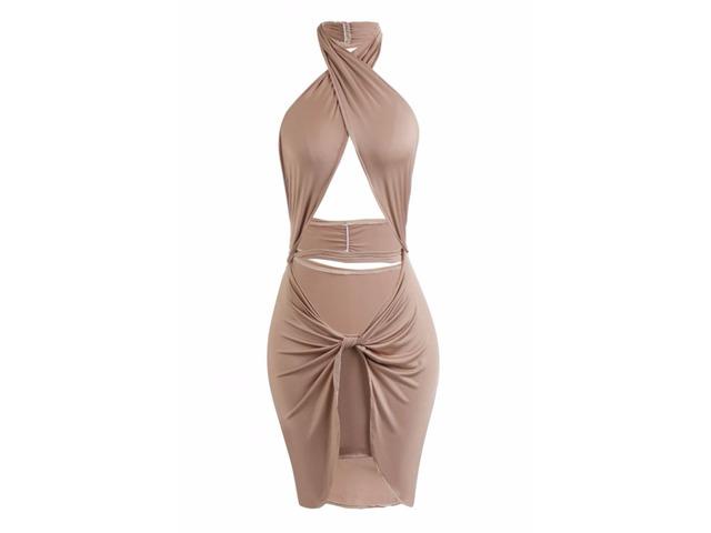 Women Sexy Lace Party Mini Dress - 6/13