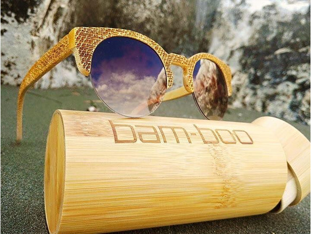 bam-boo wooden sunglasses  - 1/3