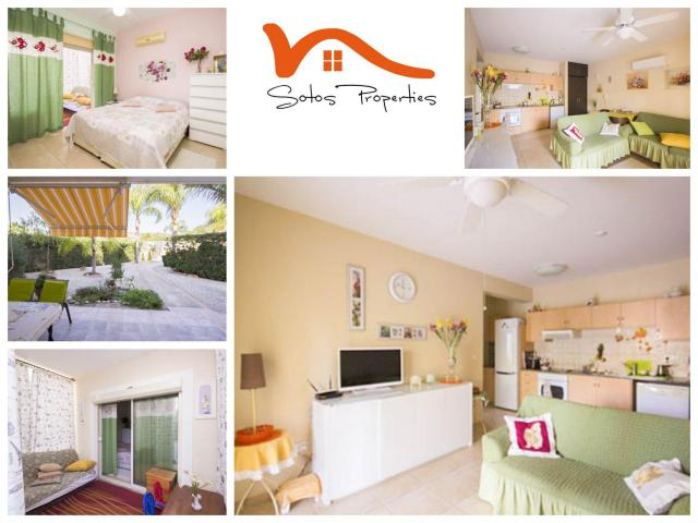 RN SPS 262 / 1 Bedroom ground floor apartment in Pyrgos tourist area – For sale - 1/7