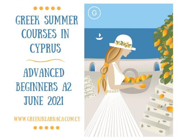 Greek Language Summer Courses in Cyprus, Jun 2021 - 2/4