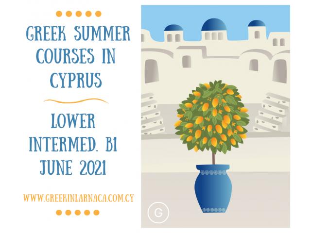 Greek Language Summer Courses in Cyprus, Jun 2021 - 3/4