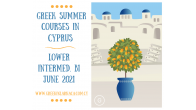 Greek Language Summer Courses in Cyprus, Jun 2021