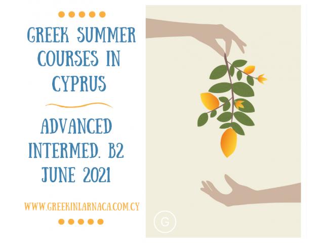 Greek Language Summer Courses in Cyprus, Jun 2021 - 4/4