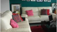 A Pair of Real Leather Sofas for Sale