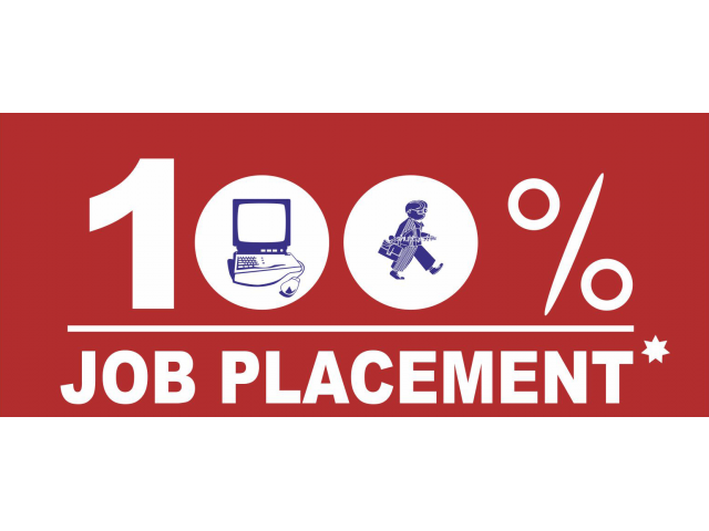 JOB PLACEMENT AVAILABLE WITH A 100% GUARANTEE  - 5/5