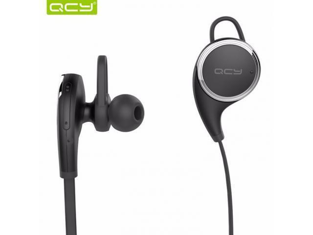 QCY QY8 sports wireless bluetooth 4.1 earphones sweatproof handsfree AptX HIFI with Mic Black - 3/3