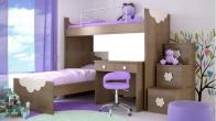 Kids beds and bookshelf